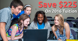 Save $225 on tuition when you make an Early Bird Reservation