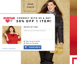 Avenue using ShopSocially's Social Connect App_Nov 2015