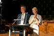 Kelly Rutherford, of Gossip Girl, and Jim Toomey, creator of Sherman's Lagoon host BLUE2015