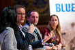 Anisa Kamadoli Costa of Tiffany and Co. Foundation, Bernard Fautrier, Jason de Cairnes Taylor, Celine Cousteau at BLUE2015