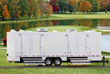 Portable Restrooms at Horse Racing Track for Historic Race