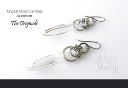 Crystal Shard Earrings from Alyce n Maille, as worn by Rebecca Breeds on Episode 305 of The Originals