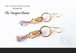 Iridescent Lilac Earrings from Alyce n Maille, as worn by Scarlett Byrne on Episode 706 of The Vampire Diaries.