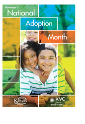 November is National Adoption Month - the Kansas Department for Children and Families and KVC Kansas