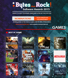 Game nominations Bytes that Rock 2015