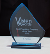 "Crystal Receives ""Most Promising Company of the Year"" Award at SATCON 2015"