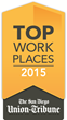 BusinessOnline Named a Winner of The San Diego Metro Area 2015 Top Workplaces Award by the San Diego Union-Tribune