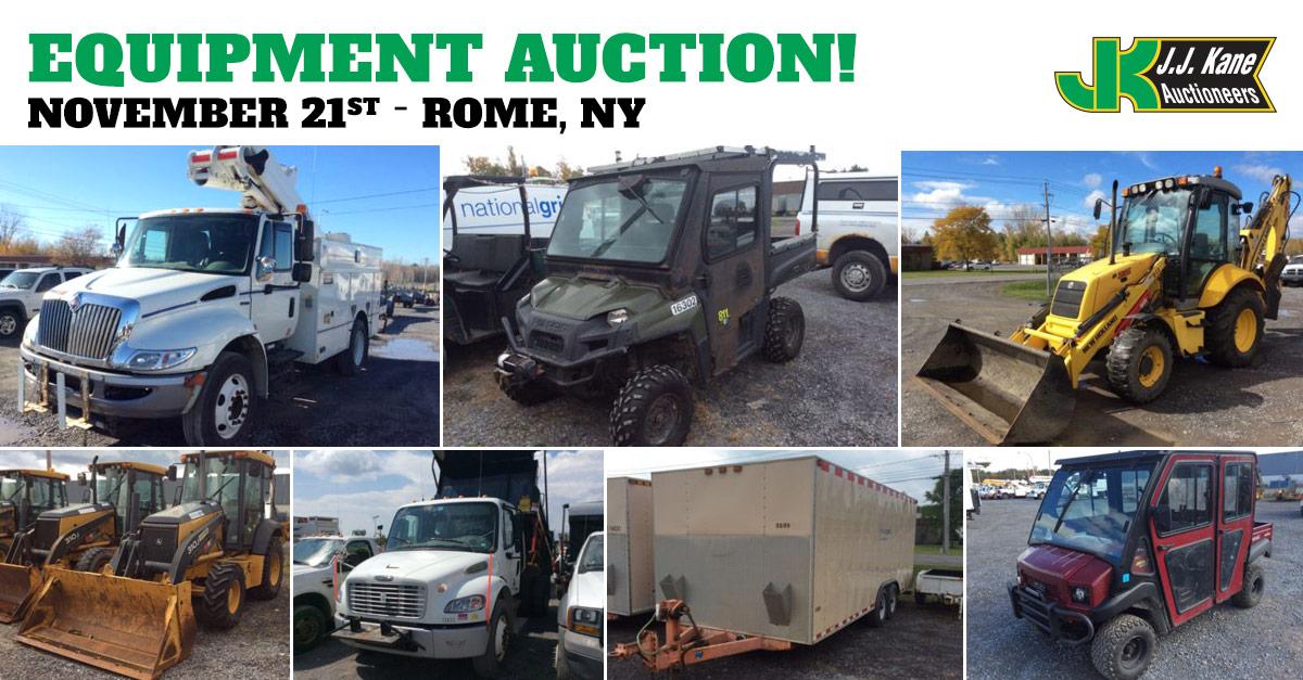 Construction Equipment and Auto Auction, Rome, NY ...
