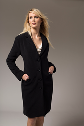 Jill Milan Long Coat in black
