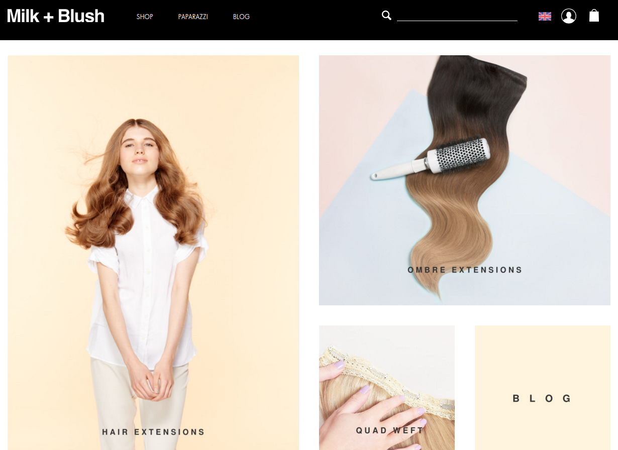 Dirty Looks Hair Extensions Have Re Branded As Milk Blush