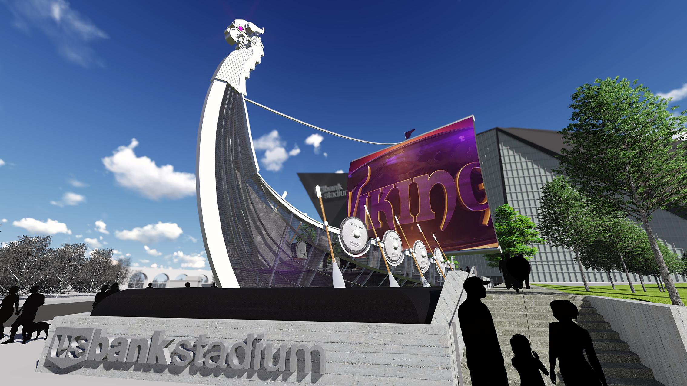 Emerging From The Mist RipBang Designs Foot Viking Ship To - Us bank stadium legacy bricks map