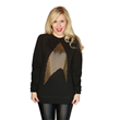 Her Universe has taken hundreds of tiny images of Star Trek's famous Delta Shield to create one large stunning design on this cozy pullover. Printed in high density gold foil for a striking appearance
