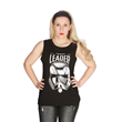 This new Force Awakens muscle tee from Her Universe features Captain Phasma's stunning metallic helmet in silver foil reflecting the power of this imposing new dark side character.