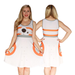 Awaken your wardrobe with this new stylish Force Awakens BB-8 A-Line dress from Her Universe featuring the little droid's familiar markings.