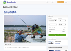 Open Angler user John Irwin of Fly Right Charters, Charleston, South Carolina offers fishing trips through the site