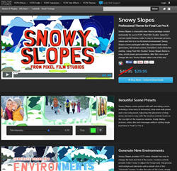 Snowy Slopes Was Released for Final Cut Pro X by Pixel Film Studios
