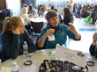 Sally Castleberry AB CNC discusses careers with girls at Sierra College NEW event