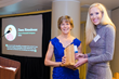 DuPont's Dawn Rittenhouse, Director of Sustainable Growth accepts Women in Sustainability Leadership Award from Laura Heidenreich President / Associate Publisher of Green Building and Design, Nov. 19, 2015.