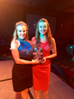 EVAmore Co-Founders Makenzie Stokel and Channing Moreland with their 2015 NEXT award trophy