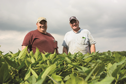 Randy Stabler and JB Debnam on their family farm, Pleasant Valley Farm.