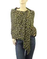 Cashmere Leopard Wrap by The Pashmina Store