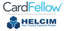CardFellow logo and Helcim logo