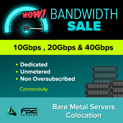 FDC Servers Dedicated Bandwidth Service