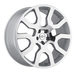 Land Rover Wheels by Redbourne - the Hercules in Silver with mirror cut face