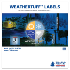 WeatherTuff outdoor durable labels