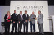 Jakob Carnemark, CEO of Aligned Energy, cuts ribbon marking the official opening of Aligned Data Centers ultra-efficient inaugural data center in Plano, Texas