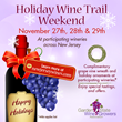 Garden State Wine Growers to Hold Holiday Wine Trail Weekend, November 27th-29th