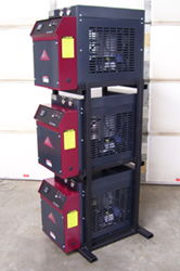 3 Accent Water Temperature Control Units with Custom Welded Rack
