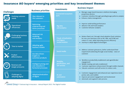 Insurance AO Buyers' Priorities & Key Investments