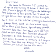 A Girls Love Mail handwritten letter
