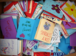 Handmade letters and cards from high school students in Louisiana