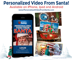 PackageFromSanta.com Launches New Personalized Video From Santa App for iPhone, iPad, and Android