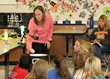 Scott County Middle School Teacher, Kate Wilson, with her Science class.