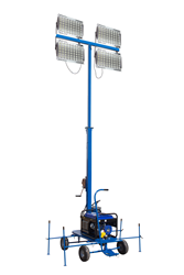 Non-Towable Mini LED Light Tower that Produces 208,000 Lumens