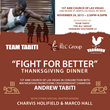 Andrew Tabiti and Temeko Richardson Team Up for Thanksgiving Fight for Better