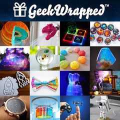 A variety of geek gifts from GeekWrapped.com