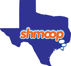 Shmoop Logo on Map of Texas