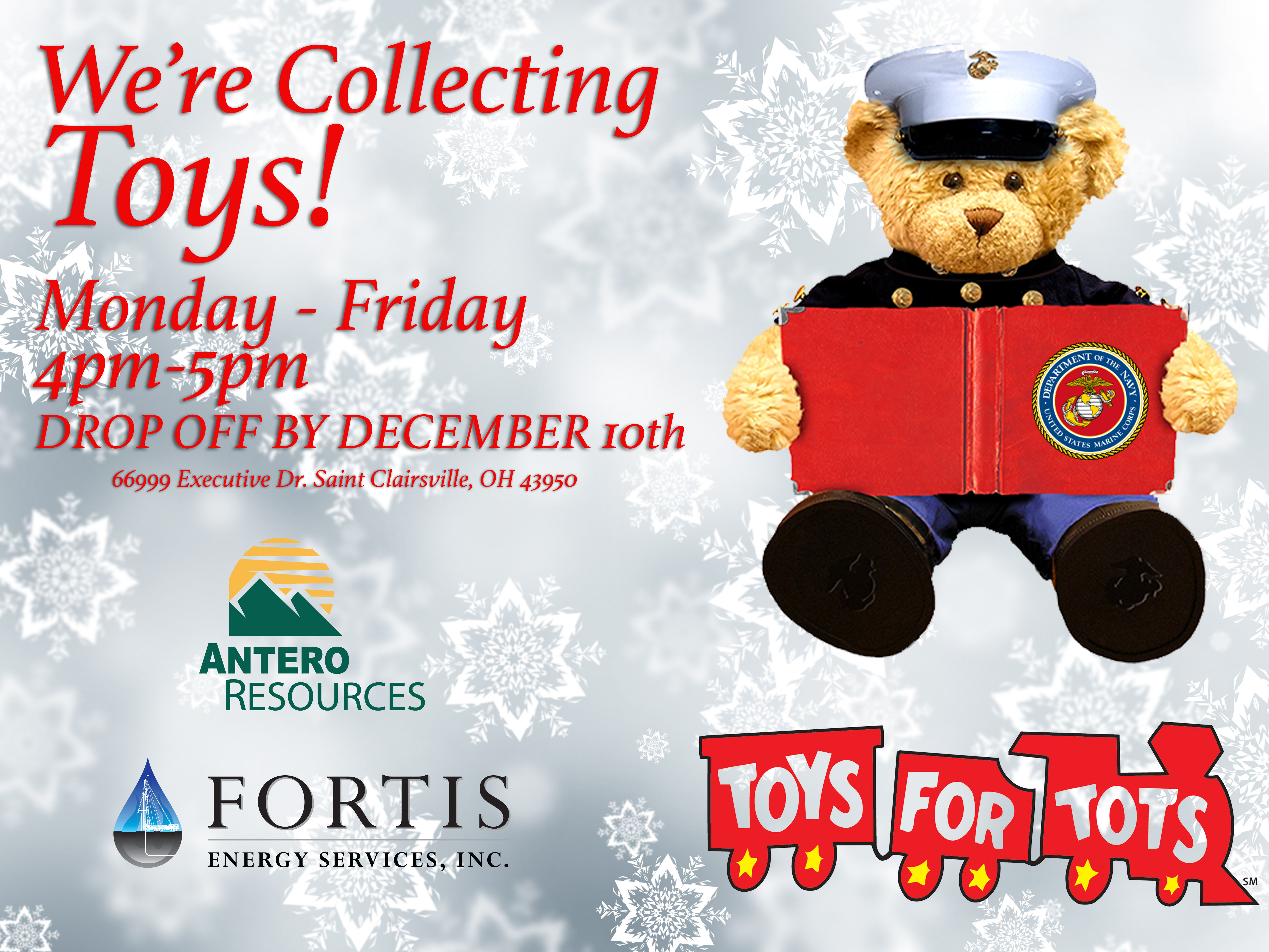 Toys For Tots Campaign : Fortis energy services partners with antero resources in