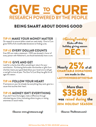 Give To Cure Offers 5 Tips on How to Be Smart About Doing Good on #GivingTuesday
