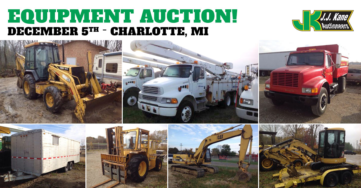 Car Auctions In Michigan >> Construction Equipment and Auto Auction, Charlotte, MI