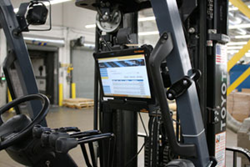 tablet mounted on forklifts