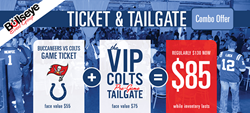 Bullseye Event Group Tailgate/Ticket Combo