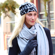 Cashmere beanies, scarves, gloves for women
