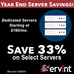 ServInt Year End Server Savings!
