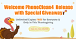 iMobie Announces the World's No.1 iOS Cleaner PhoneClean 4 with a 3-Day Thanksgiving Giveaway