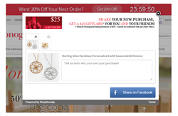 ShopSocially's Share-a-Purchase screenshot_MonogramOnline